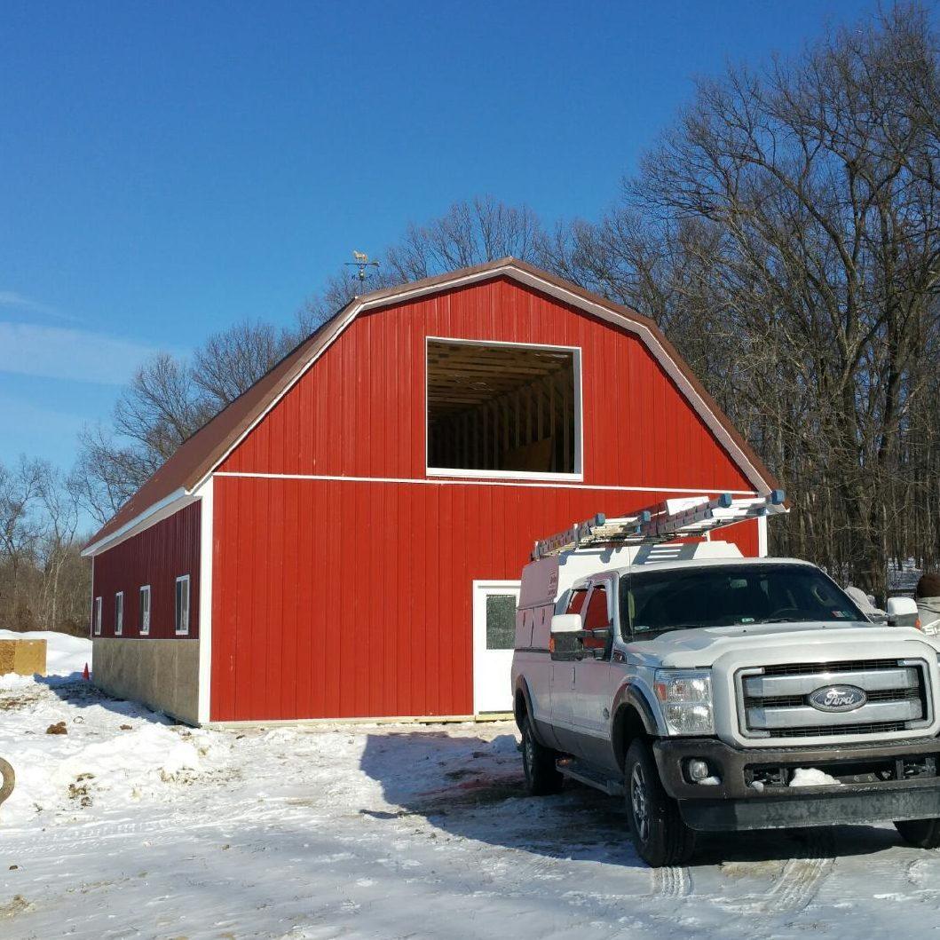 Hip Roof Style Barn Franklin Pole Buildings Llc